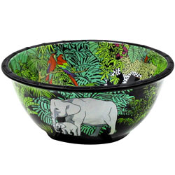 Grote Deep Salad Bowl in pure melamine - 25 cm - Jungle