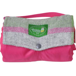 Picknickplaid Wandeling in fuchsia en fleece,
